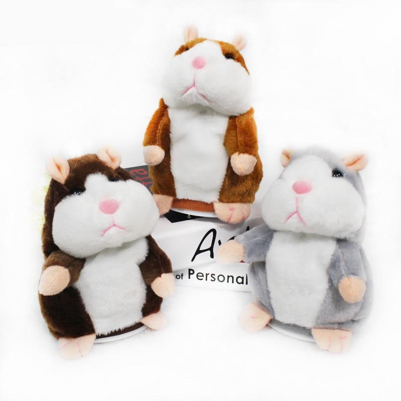 Kawaii Talking Hamster Plush Toys Sound Record Plush Hamster Perfect Kids Birthday Gift 16cm Plush Toy - Ecodesignstore