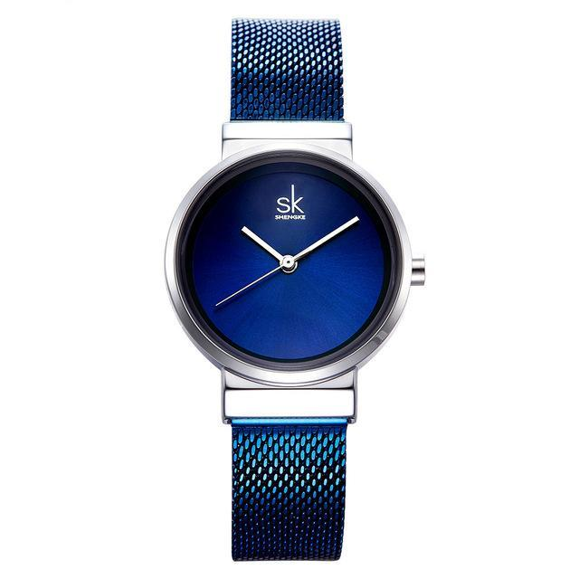 Luxury Women's Blue Stainless Steel Quartz Wrist Watch Womens Watches - Ecodesignstore