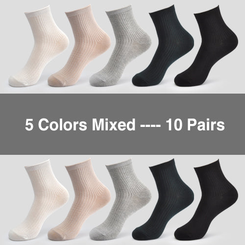Women's Cotton Socks 10 Pairs/Lot Comfortable Breathable Durable Premium Quality Fashion Women's Socks Womens Cotton Socks - Ecodesignstore