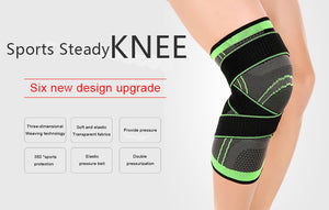 Pressurized Fitness Running Cycling Bandage - Knee Support Brace Elastic Nylon Sports Compression Pad Sleeve  - Ecodesignstore