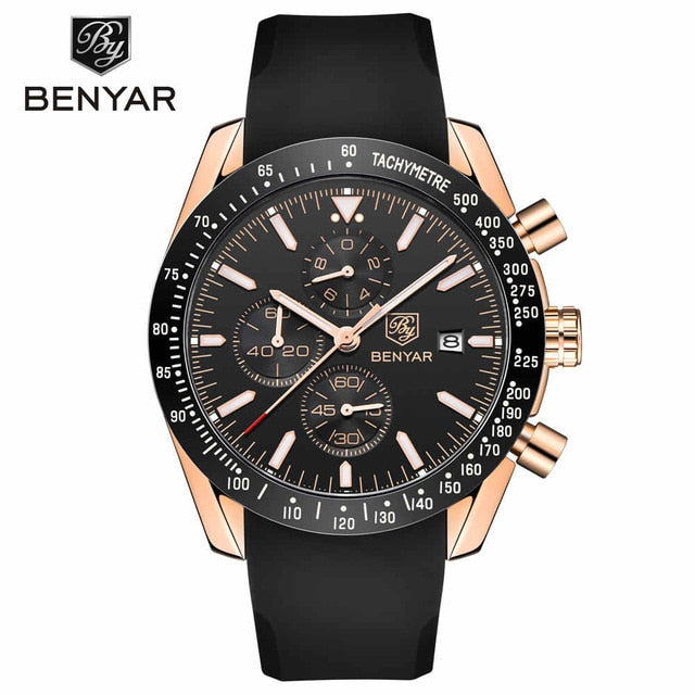 Sport Quartz Chronograph Men's Watch with Silicone Strap  - Ecodesignstore