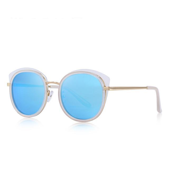 Women's Fashion Cats Eye Polarized Sunglasses Metal Temple 100% UV Protection Womens Sunglasses - Ecodesignstore