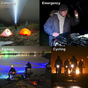 8000LM LED Bike Bicycle Flashlight Light Zoomable Focus Torch Lamp Light Tactical Torch Lantern Cycling - Ecodesignstore