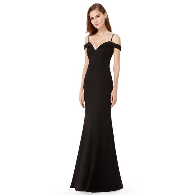 Elegant V-neck Sleeveless Long Evening Dress Dress - Ecodesignstore