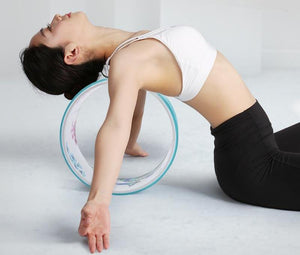 Printed Yoga Wheel With Yoga Bag Anti-slip Back Bend Yoga Wheel for Stretching Exercises & Pilates Yoga - Ecodesignstore