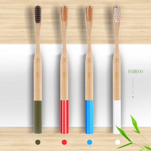 Natural Bamboo Charcoal Toothbrush Low Carbon Bamboo Nylon Wood Handle Toothbrush - Ecodesignstore