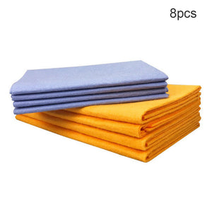 8PCS Super Absorbent Towels Anti-grease Bamboo Fiber Dish Cloth Kitchen - Ecodesignstore