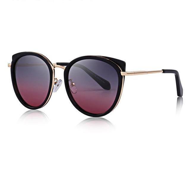 Women's Cats Eye Sunglasses - Polarized Metal Temple UV400 Protection S'6227 Womens Sunglasses - Ecodesignstore