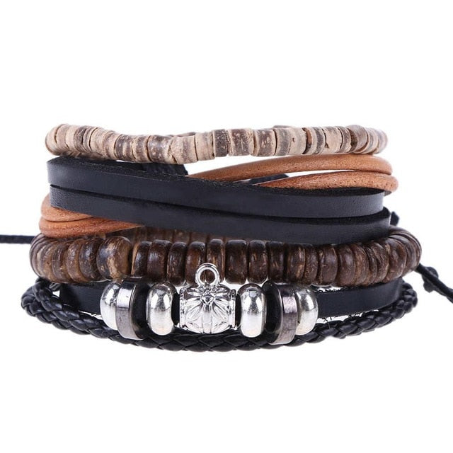 Mens leather bracelet Mens Jewelry - Ecodesignstore