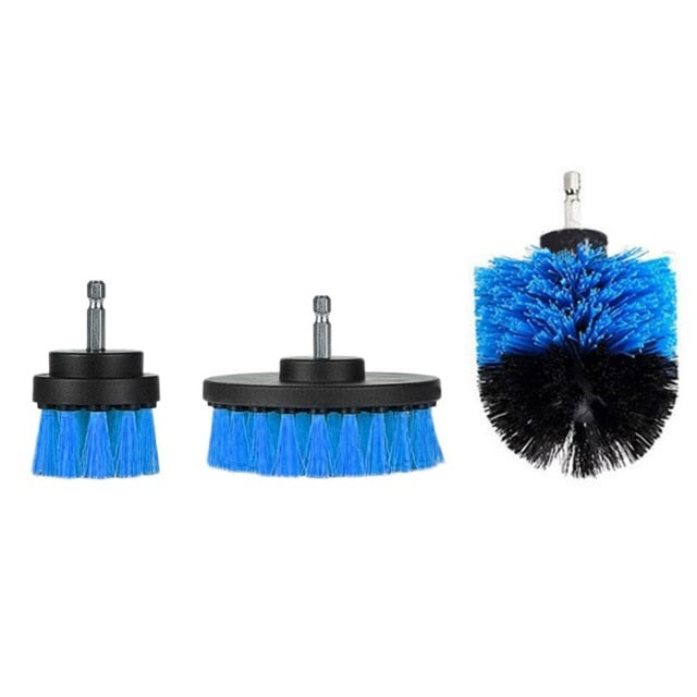 3 pcs Power Scrubber Brush Drill Brush Kit for Cleaning Bathroom Grout & Stove Tops, Barbecue's & Countless other Surfaces in a Flash.  - Ecodesignstore