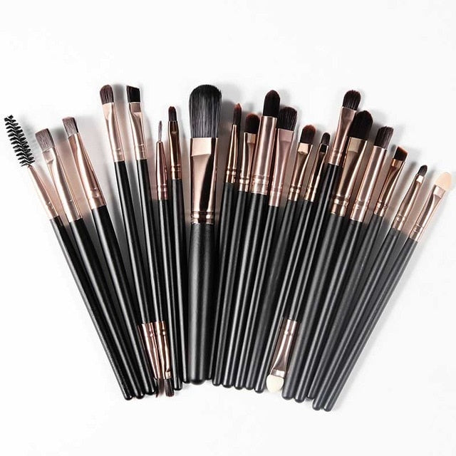 20Pcs Premium Quality Professional Makeup Brush Set for Powder Foundation Eyeshadow Make Up - Soft Synthetic Hair Beauty Products - Ecodesignstore