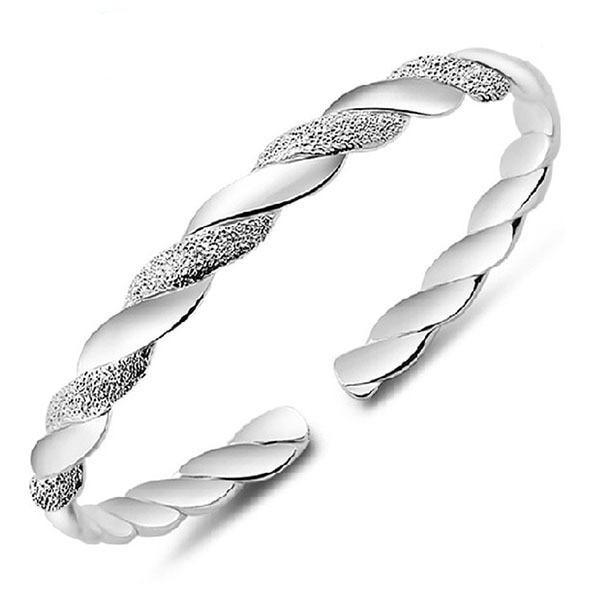 Adjustable Silver Bracelet Bangle Womens Jewelry - Ecodesignstore