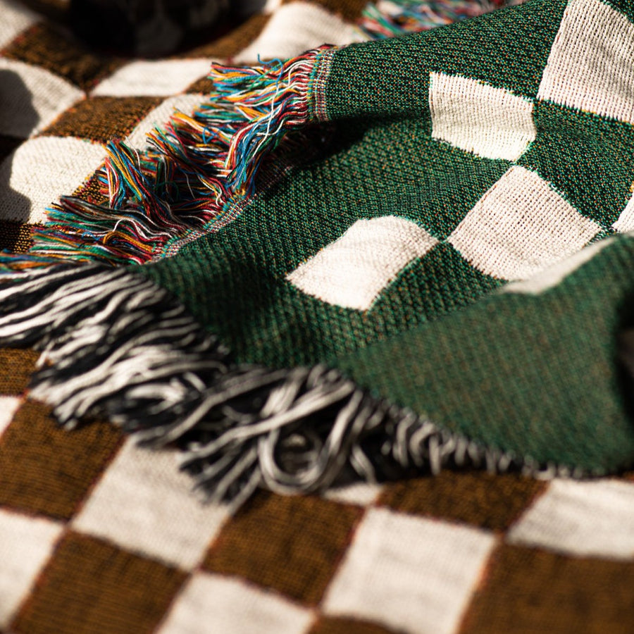 Blanket textures. Green checkered