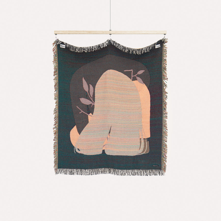 The Caretaker. Cotton woven throw blanket. Designed in Brooklyn, NY.