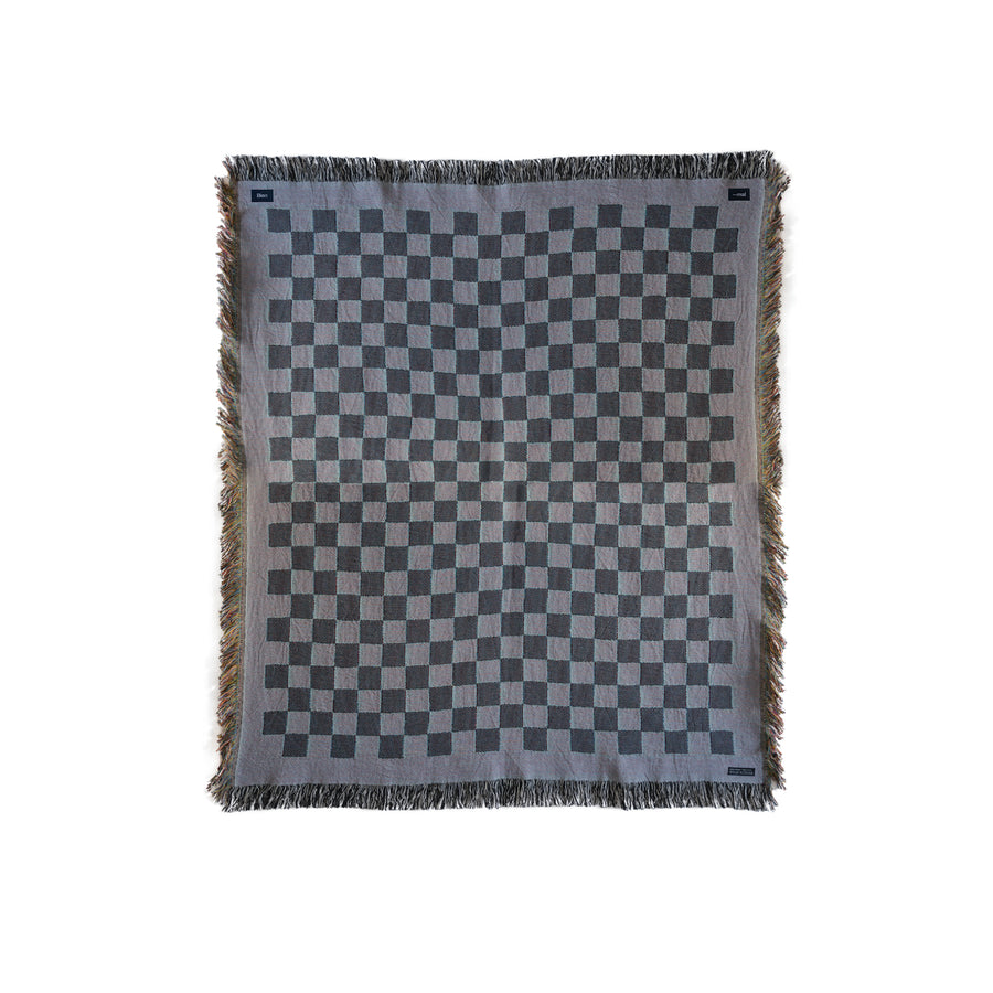 Checkered blanket back