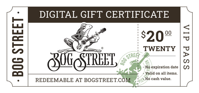 Bogstreet.com Digital Gift Card