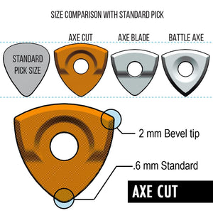 AXE Series Picks (Edge-to-edge-texture) Mixed 6-Pack