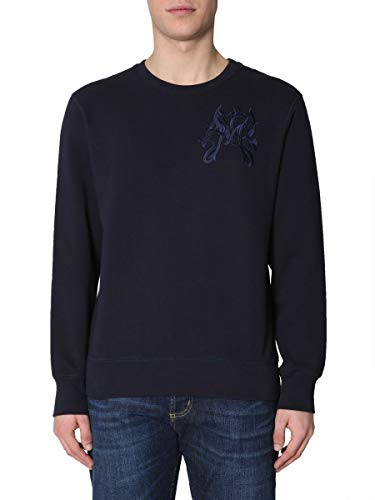 Alexander McQueen Men's 550488Qmx234100 Blue Cotton Sweatshirt