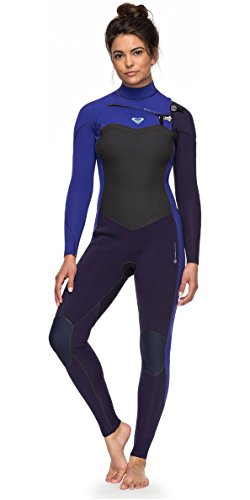 Roxy Womens Performance 3/2MM Chest Zip Wetsuit Blue Ribbon Purple - Lightweight Thermal Lining