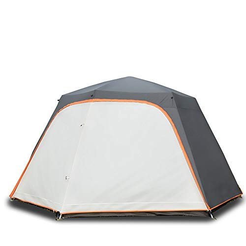 AN-JING White Outdoor Automatic Tent 8 People Encampment Rain Thick Hex Aluminum Pole Camping Large Awning Raincoat Picnic durable