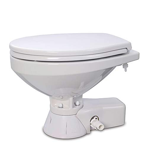 Jabsco 37245-4092 Quiet Flush Electric Marine Toilet Pump Regular Bowl 12 Volt Boating Head