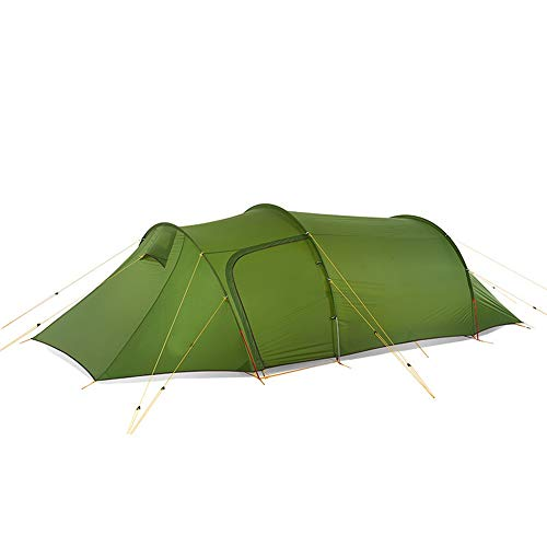 AN-JING Green Radical Light Tunnel Tent Outdoor Forked Hiking Camping One Room One Hall Four Season Tent durable
