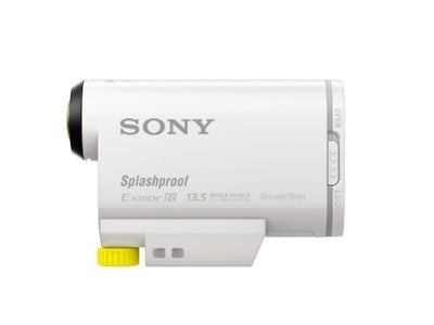 Sony Action Cam-HDR-AS100V - Action camera - mountable - High Definition - 13.5 Mpix - Carl Zeiss - flash card - Wi-Fi - underwater up to 60m - white(HDR-AS100V)