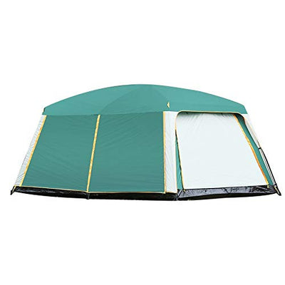 RLJJCS Fashionable, Light And Convenient, Camel, Two Bedrooms, One Hall, Tent, Outdoor Camping, 6 People, 8 People, 10 People, 12 People, Two Rooms, One Hall, Many People, Rainproof tent