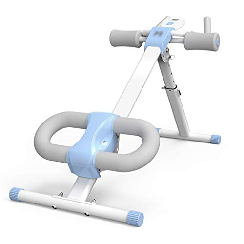 Abdominal Trainers AB Trainer Exerciser Home AB Trainer Foldable Home Multi-function Abdominal Training Fitness Equipment (Color : White, Size : 82 * 114 * 50cm)