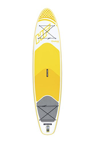 Hydro-Force Cruiser Tech Inflatable SUP Stand Up Paddleboard Set, Yellow, 10 ft and 6 Inch
