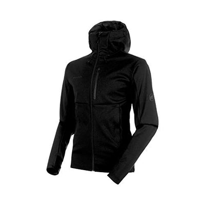 Mammut Men's Ultimate V Hooded Softshell Jacket, Black, 2X-Large