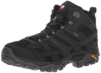 Merrell Men's Moab 2 Smooth MID Waterproof Hiking Boot, Black, 8.5 M US