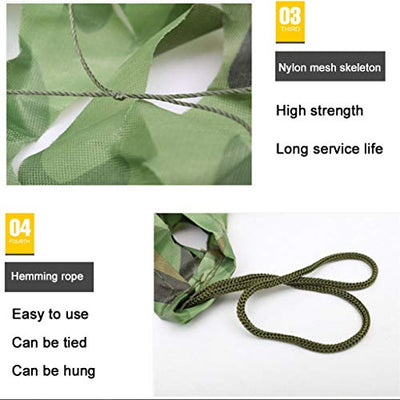 Bulk Sunshade Net Shade Cloth Sun-Block Mesh Woodland Camo Netting Camo Cover Garden Cover for Camping Army Military Hunting Shooting