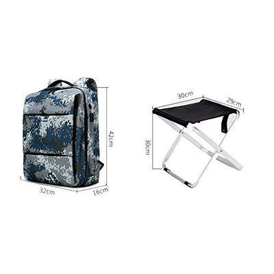 IF.HLMF Multi-Function Backpack Built-in Chair, 2 in1 Fishing Chair Backpack Suitable for camping, fishing, hiking, picnics, etc use.