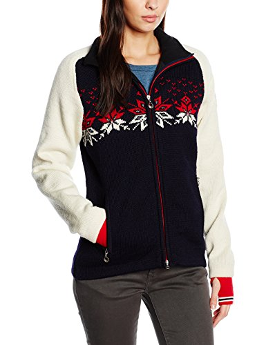 Dale of Norway Snetind Feminine Women's Pullover Sweater WP, Navy/Off White/Raspberry/Smoke M 82851–C