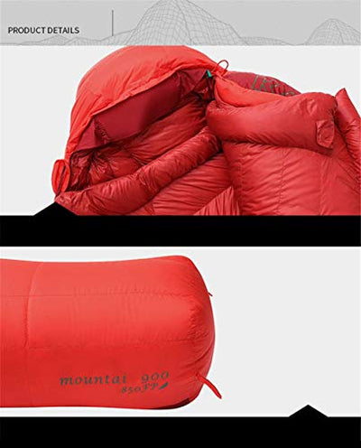 XHCP Sleeping bag, lightweight mummy sleeping bags, ideal for hiking, camping and hiking, comfortable and convenient