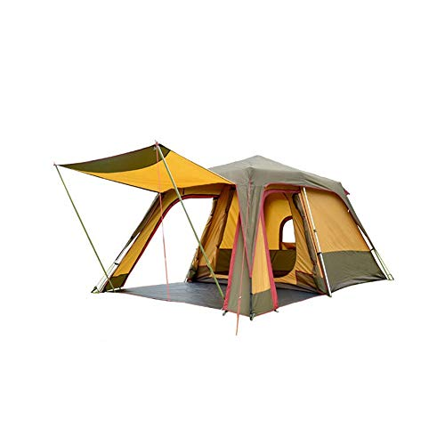 AN-JING Colouration Matching Large Space UV Protection Automatic 3 People 4 People Big Tent One Room One Hall Fishing Camping Pergola Family Outdoor Aluminum Alloy Liberate To Open durable