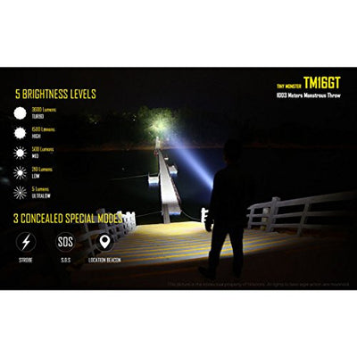Nitecore TM16GT Torch - Black