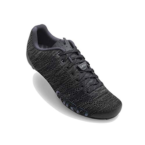 Giro Women's Empire E70 Knit Road Biking Shoes, (Black Heather 8), 7 (41 EU)