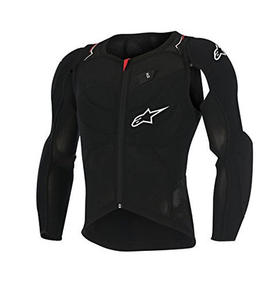 Alpinestars Protection Evolution Long Sleeve Body Armour Jacket, Black/White/Red, Medium