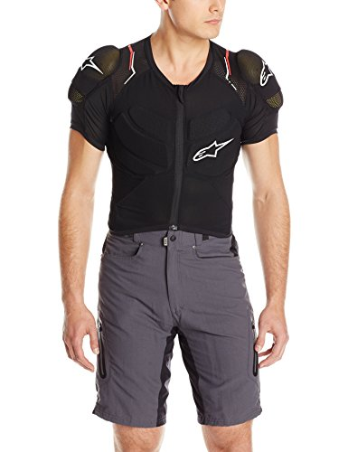 Alpinestars Protection Evolution Body Armour Jacket, Black/White/Red, Large