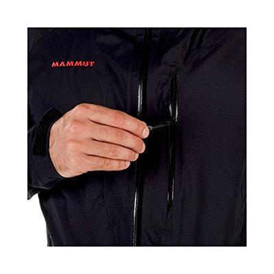 Mammut Men's Kento HS Hooded Hardshell Jackets, Black, X-Large