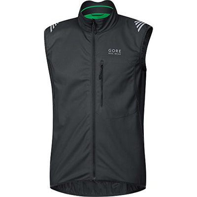 GORE BIKE WEAR Men's Soft Shell Cycling Vest, GORE WINDSTOPPER, WS SO Vest, Size XL, Black, VWSELM