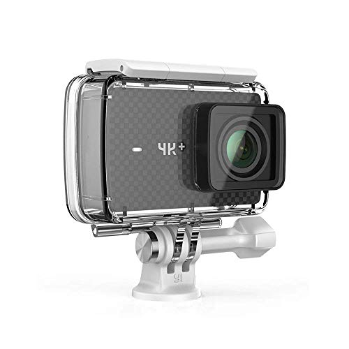 YI 4 K Plus Action Camera Black 4 K/60fps 12MP 5,56 cm 2.2 Inch LCD Touchscreen Bundled with Yi Waterproof Casing, WiFi and Command, App for iOS/Andriod (EU Version)
