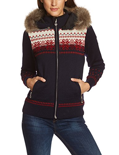 Dale of Norway Fløyen WP - Women's Jacket blue Navy/Red Rose/Red Orange/Off White Size:M