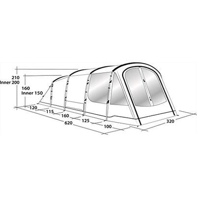 Outwell Traverston 5 Family Tent, One Size