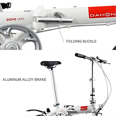 City Bike 14 Inch Single Speed Commuter Bicycle Fold Aluminum Alloy Brake For Unisex Adult,D