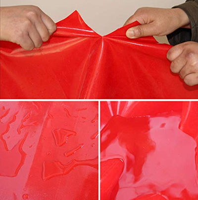 ACZZ Red Waterproof Tarpaulin Heavy Duty Poly Tarp Ground Sheet Outdoor Camping Fishing Hiking Uv Resistant Cover - Waterproof Anti-Aging Windproof,5M*10M