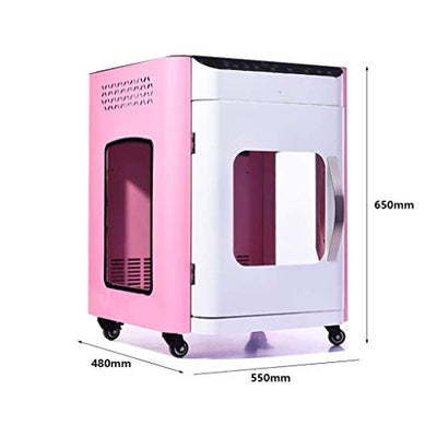 ZENGZHIJIE Pet Drying Water Blowing Machine Dog Bathing Cat Hair Dryer Dryer Small Medium Pet Beauty Salon Dedicated Home Professional (Color : Pink)