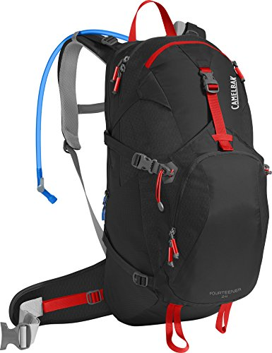 Camelbak Unisex's Fourteener 24 Hydration Pack, Black/Fiery Red, 100 oz